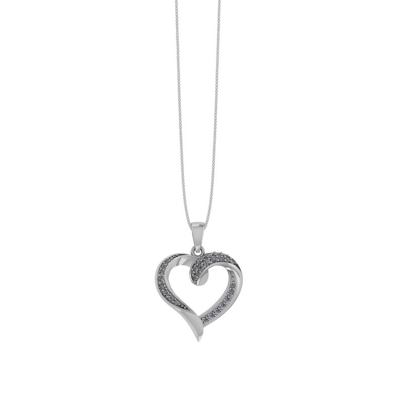 Sølv Halskæde fra Smykkekæden med Hjertevedhæng