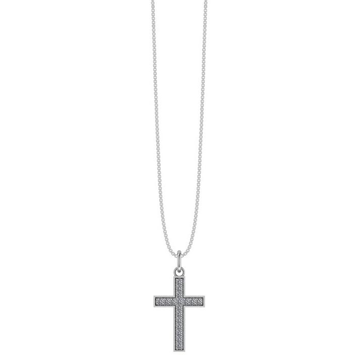 Smykkekæden Kors Sterling Sølv Halskæde
