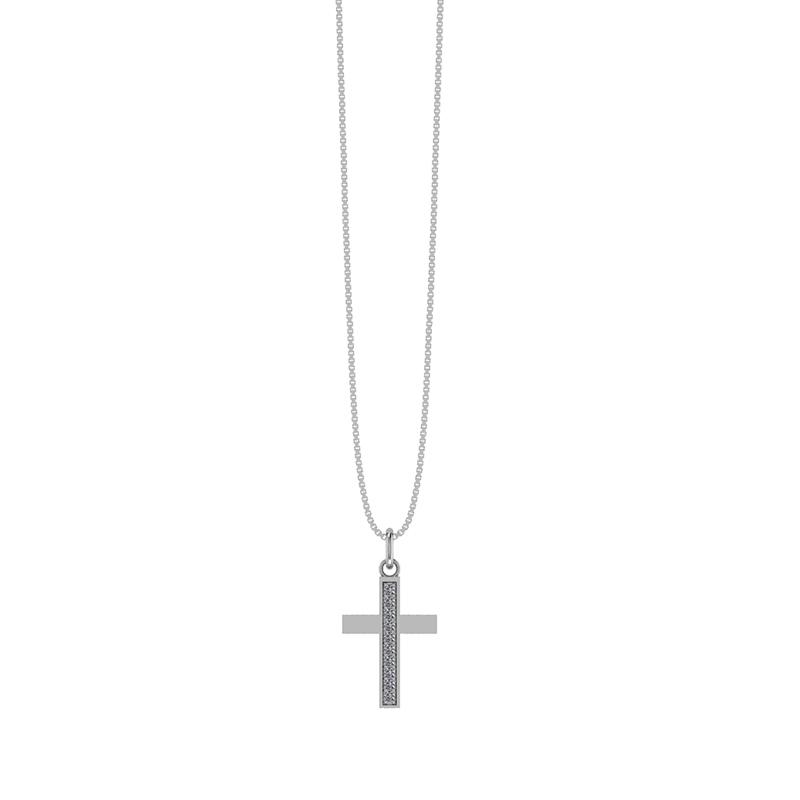 Smykkekæden Halskæde i Sterling Sølv med Kors