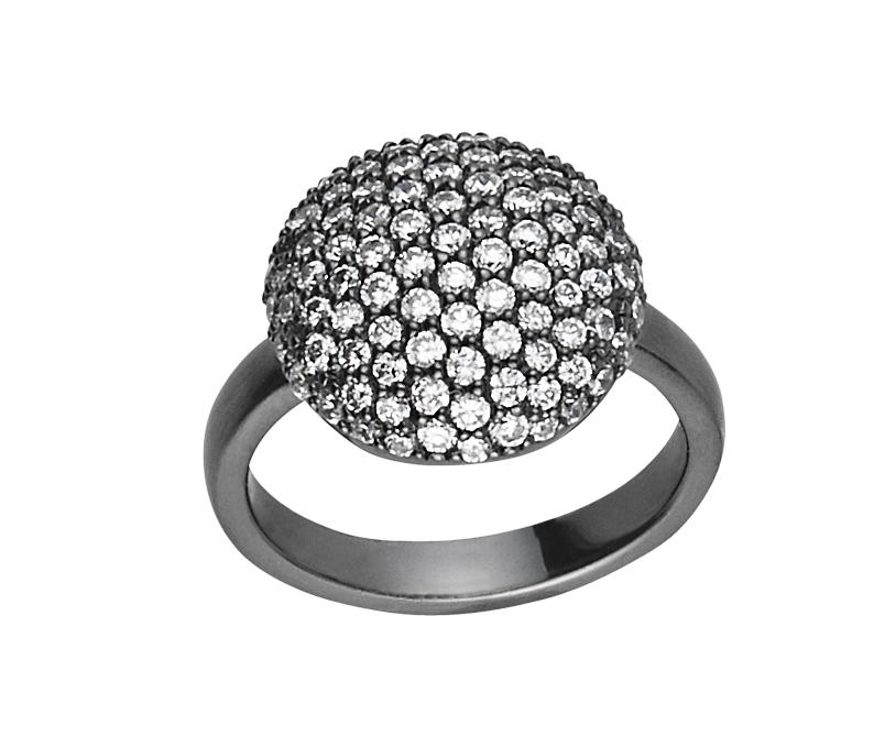 Image of   Sparkle Black Sterling Sølv Ring fra byBiehl