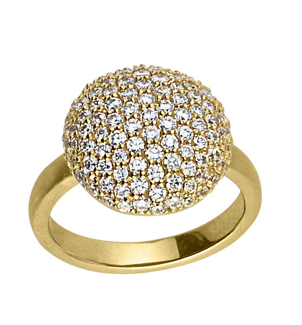 Image of   byBiehl Sparkle Forgyldt Sølv Ring