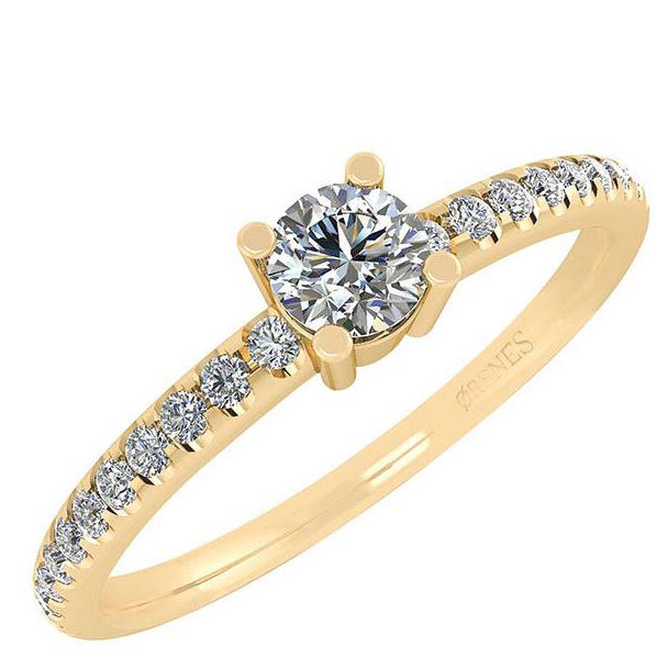 Smykkekæden Ring i 14 Karat Guld med Diamanter 50-00339-1850