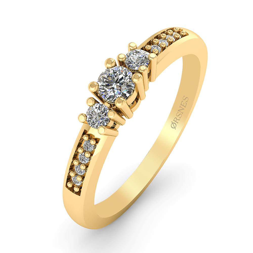 14 Karat Guld Ring fra Smykkekæden med Brillanter 0,80 Carat W/SI3
