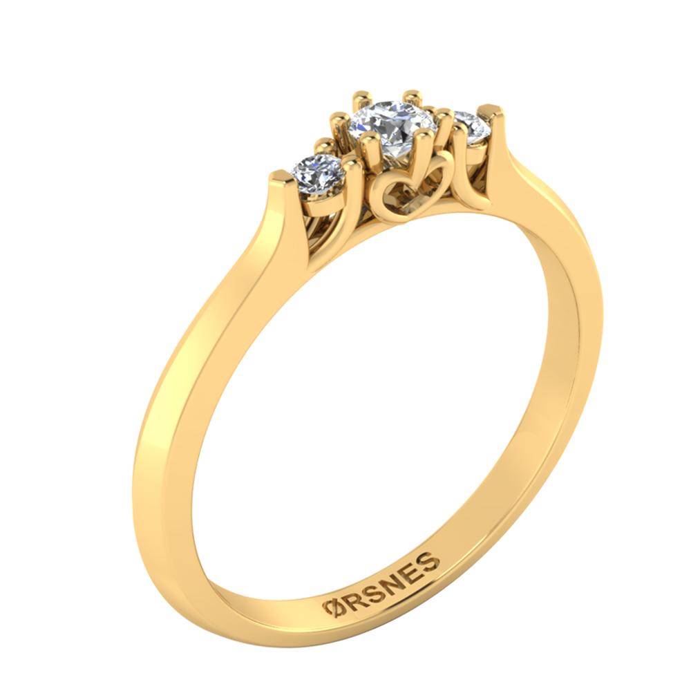 Image of   8 Karat Guld Ring 50-00546-1030