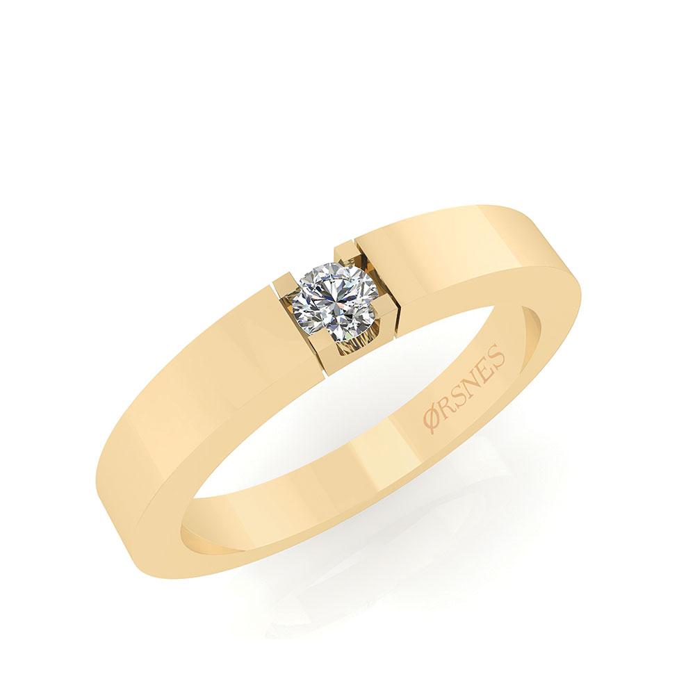 Image of   Alliance 14 Karat Guld Ring fra Smykkekæden med Diamant 0,05 Carat TW/SI