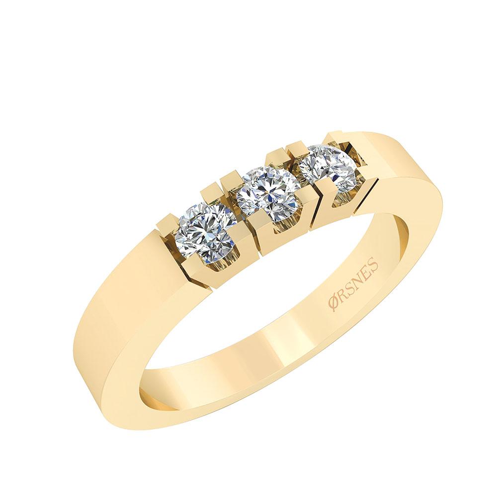 Image of   Alliance 14 Karat Guld Ring fra Smykkekæden