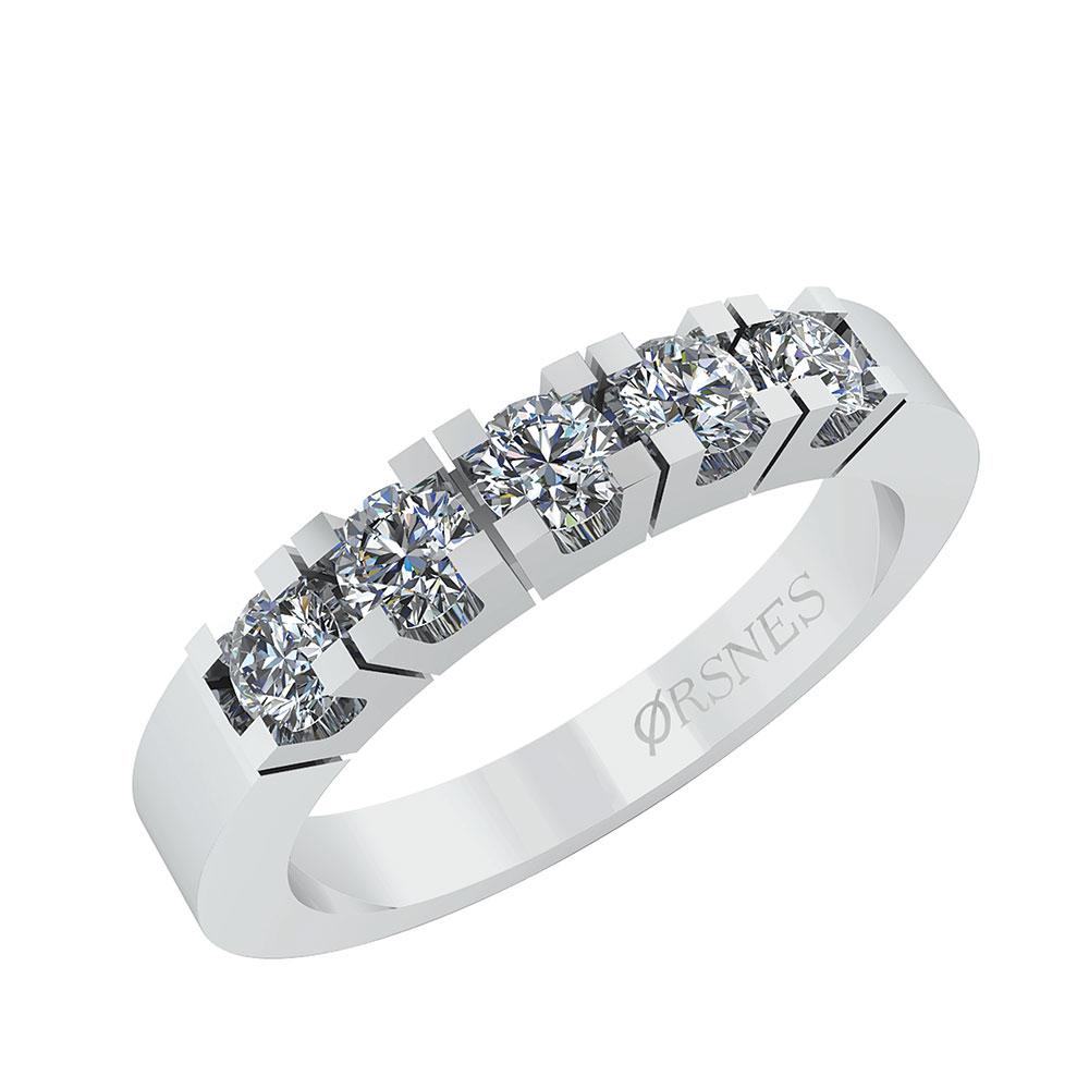 Image of   Alliance 14 Karat Hvidguld Ring fra Smykkekæden med Diamanter 0,25 Carat TW/SI