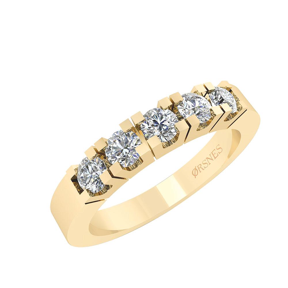 Smykkekæden Alliance Ring i 14 Karat Guld med Diamanter 0,50 Carat TW/SI