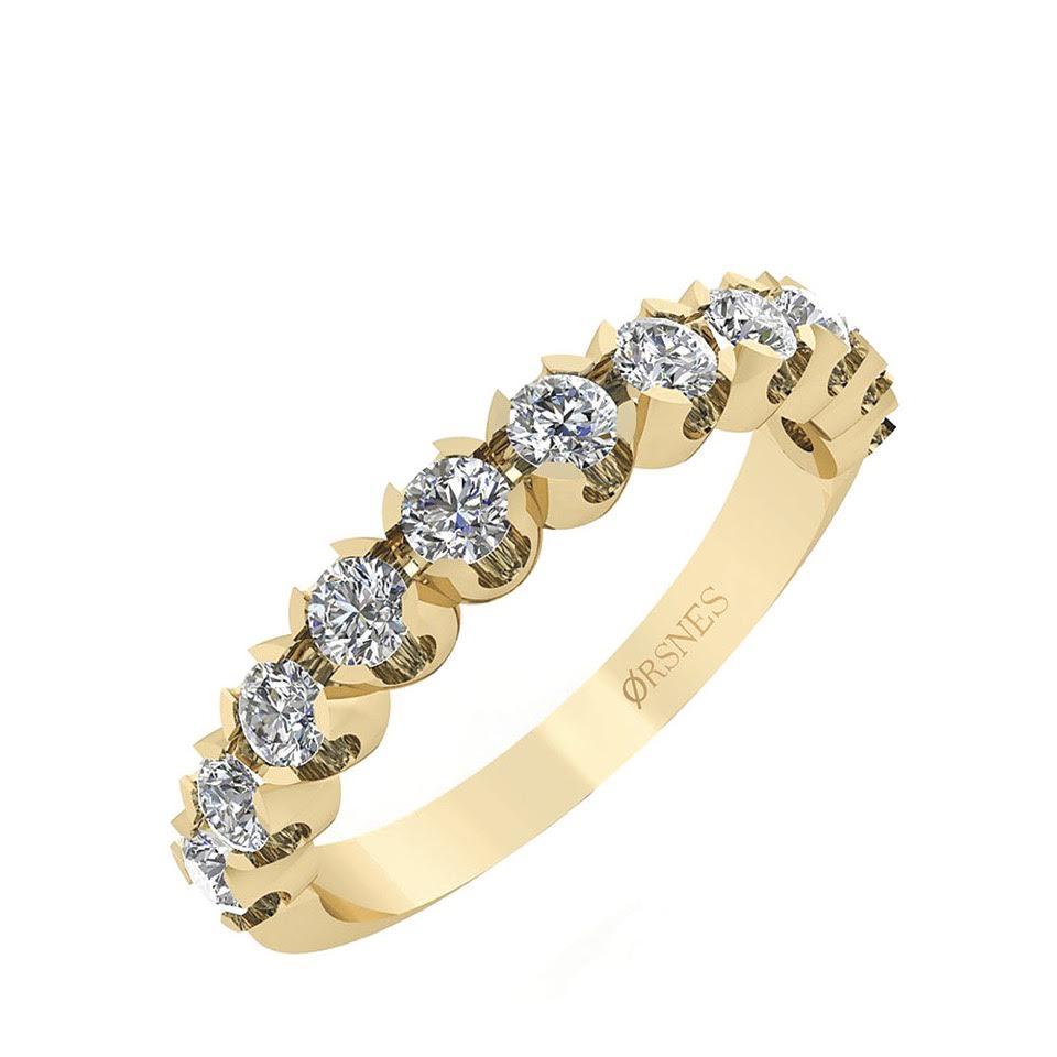 Image of   14 Karat Guld Ring fra Smykkekæden med Diamanter 0,66 Carat W/SI