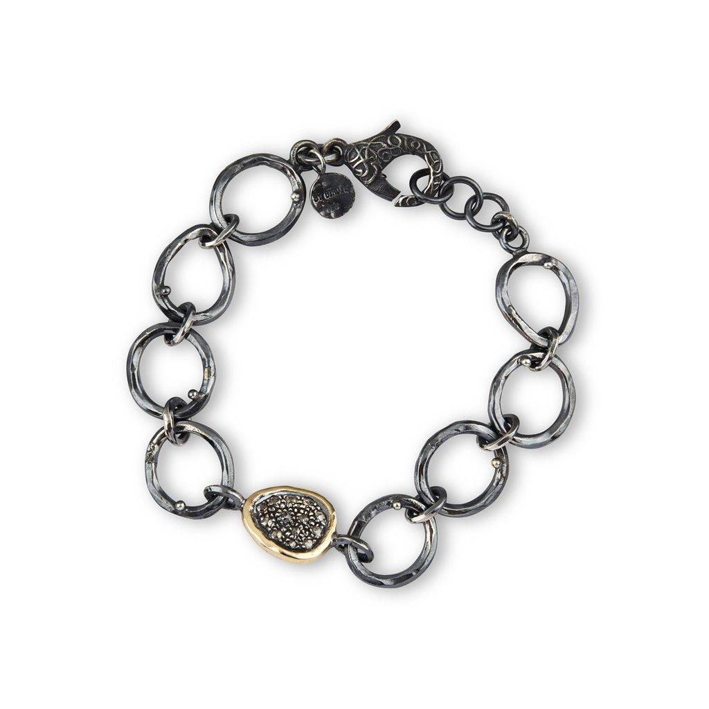 Orion Topka Sterling Sølv Armbånd fra By Birdie med 14 Karat Guld og Brillanter 0,65 Carat