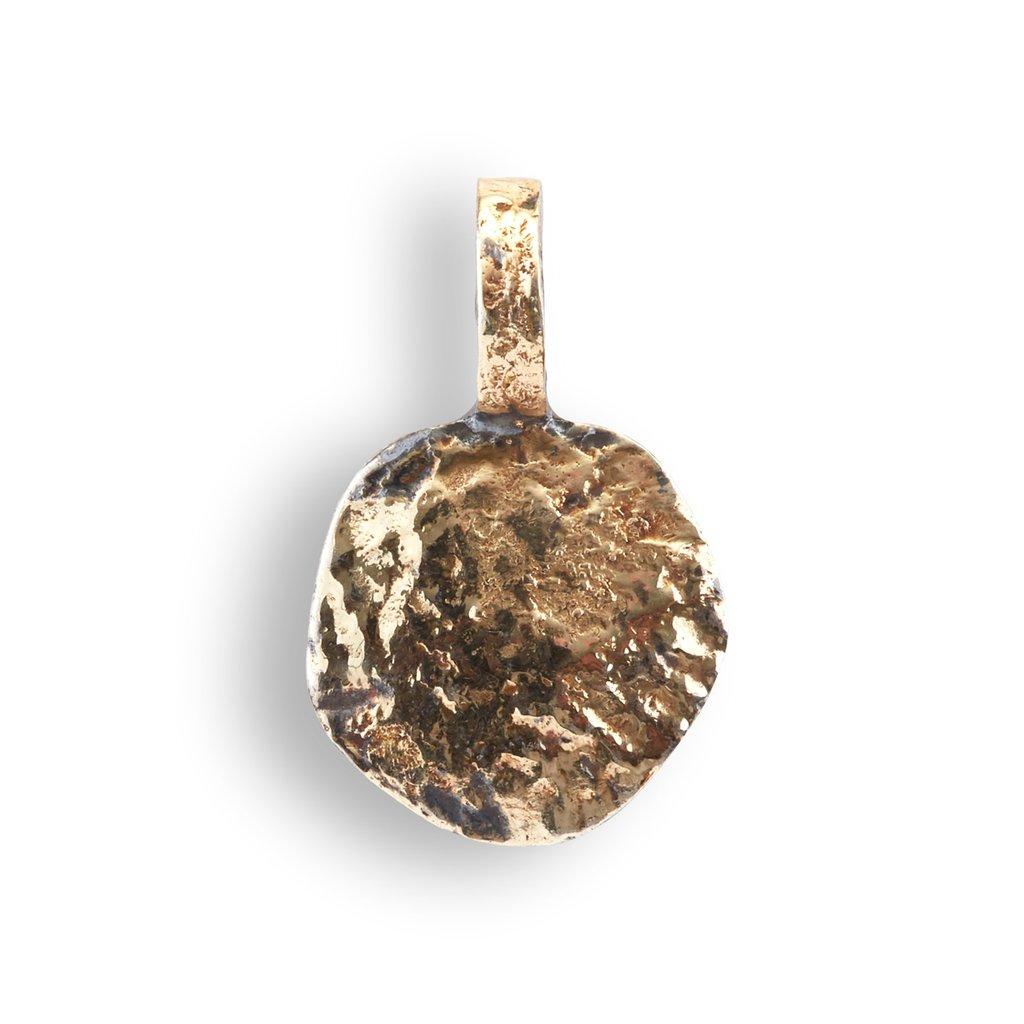 Sif Coin Sterling Sølv Vedhæng fra By Birdie med 18 Karat Guld