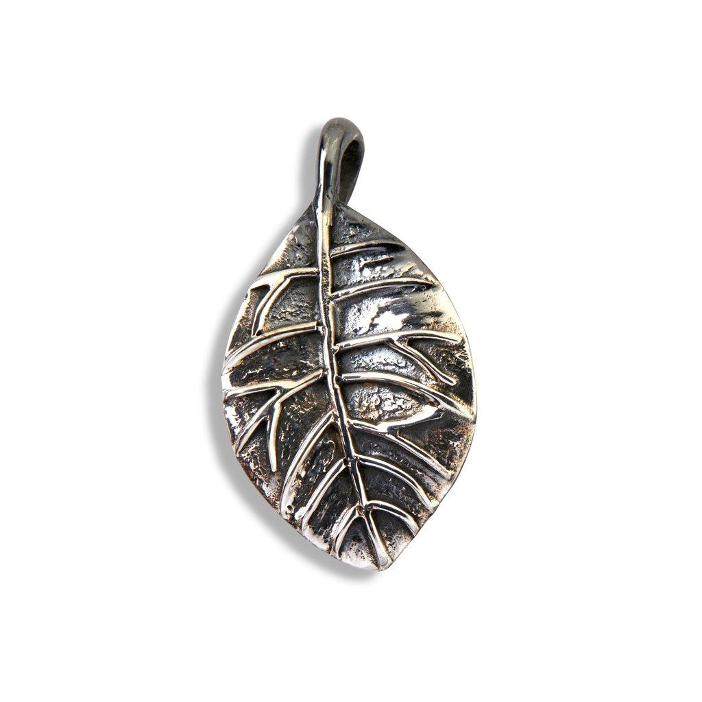 Image of   Beech Large Sterling Sølv Vedhæng fra By Birdie