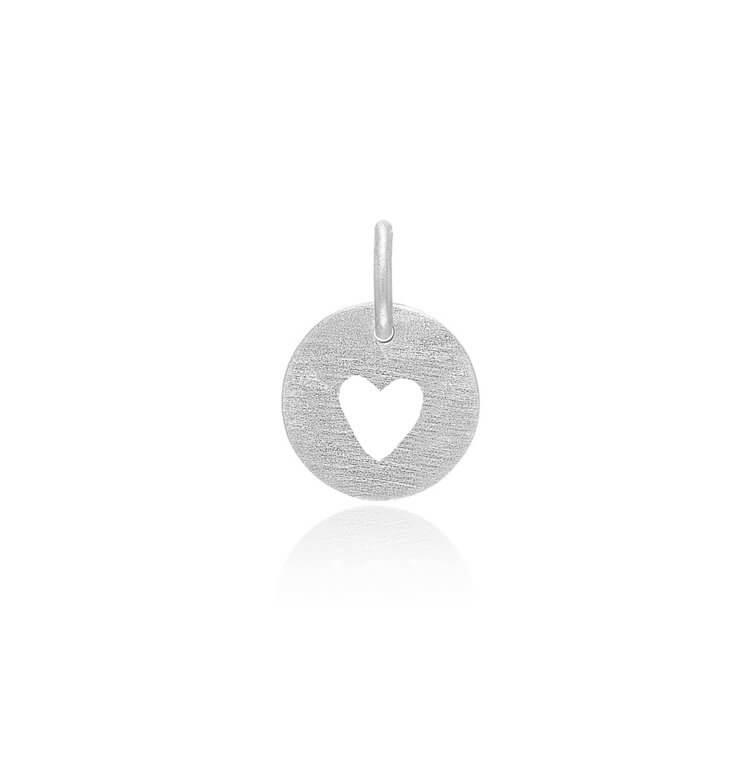 Heart Sterling Sølv Vedhæng fra Frk Lisberg 5786-925