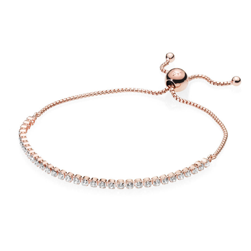 Pandora Sparkling Strand Armbånd i Rosaforgyldt Sølv