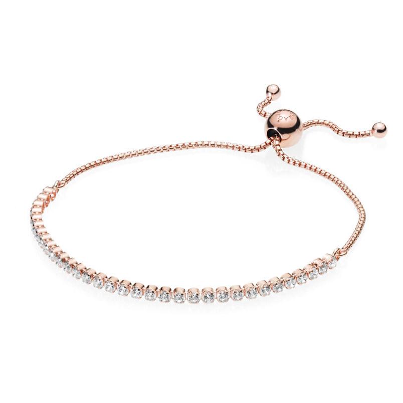 Sparkling Strand Rosaforgyldt Sølv Armbånd fra Pandora