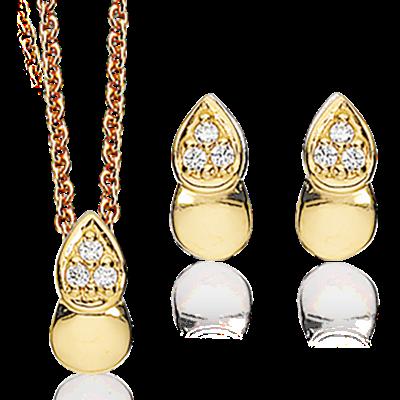 Image of   Forgyldt Sølv Smykkesæt fra Scrouples 586