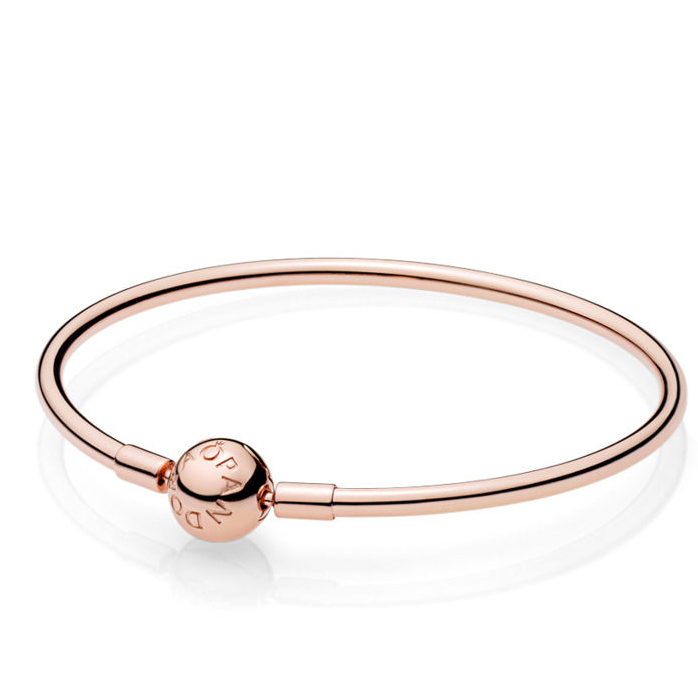 Pandora Moments Rose Bangle Armring i Forgyldt Sølv