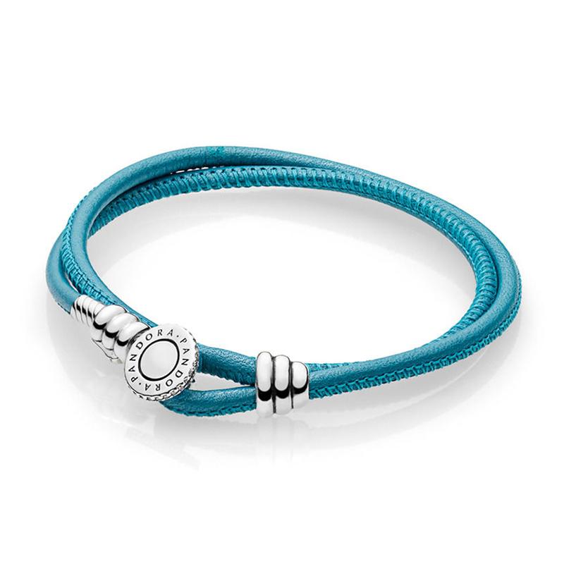 Pandora Moments Læder Armbånd
