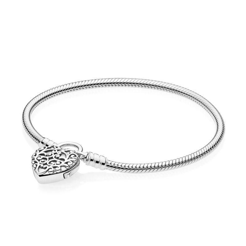 Pandora Moments Regal Heart Armbånd i Sterling Sølv