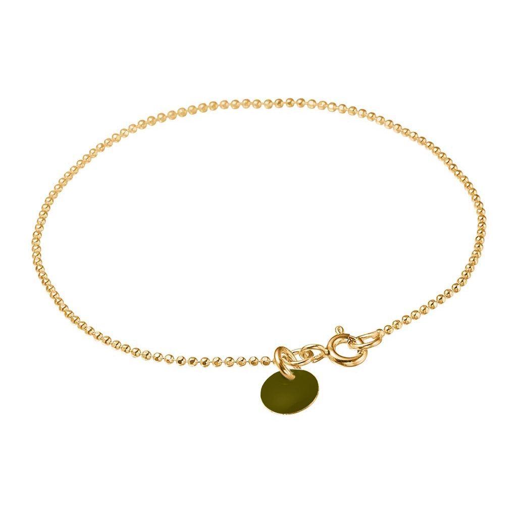 Image of   Army Ball Chain Forgyldt Sølv Armbånd fra Enamel