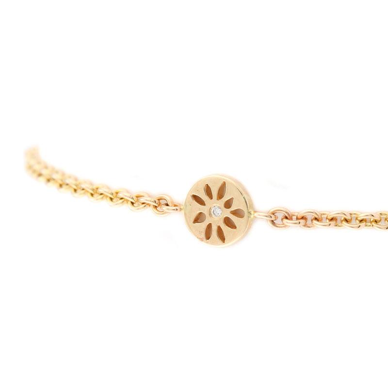 Image of   14 Karat Guld Armbånd med Brillant 600