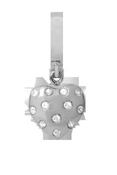 Christina Watches Million Heart Drop Charm i Sterling Sølv med Safirer thumbnail