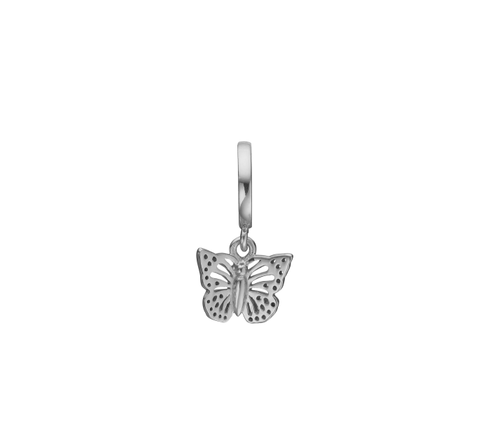 Image of   Butterfly In The Sky Sterling Sølv Charm fra Christina Watches