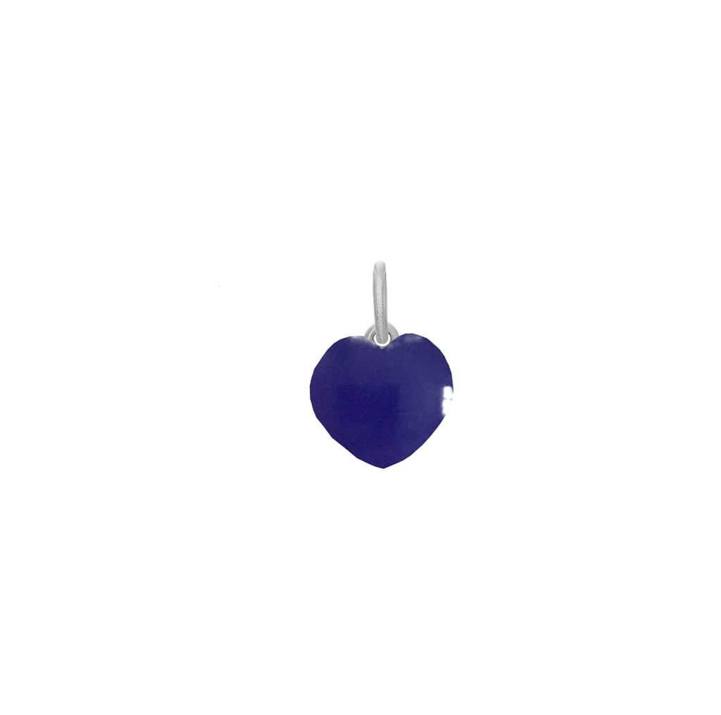 Frk Lisberg Stone Heart Sterling Sølv Vedhæng med Blå Calcedon
