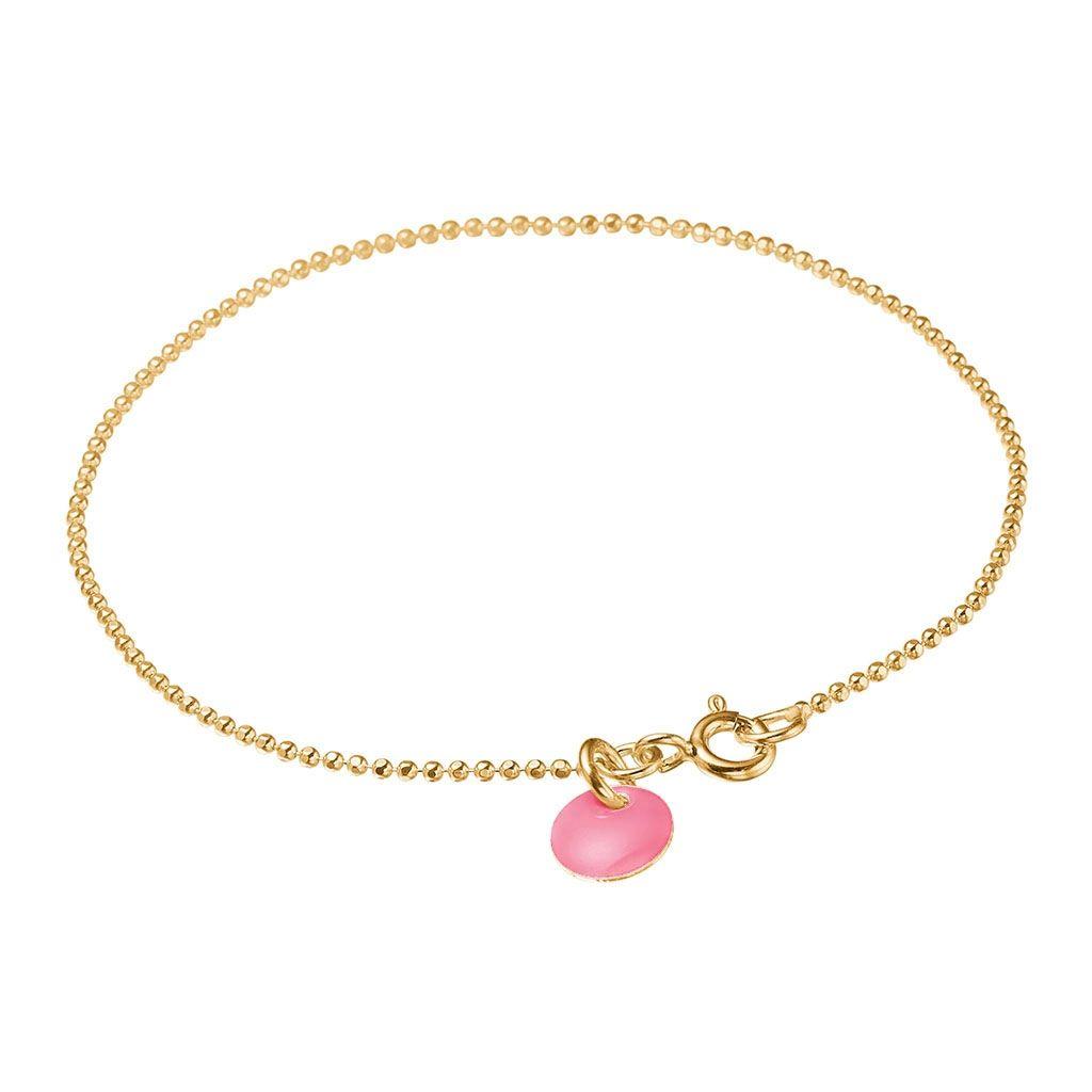 Enamel Flamingo Ball Chain Forgyldt Sølv Armbånd