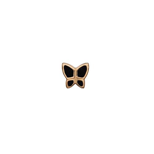 Image of   Butterfly Black Forgyldt Sølv Charm fra Christina Watches