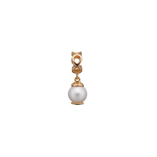 Image of   Christina Watches Moving Pearl Forgyldt Sølv Charm med Ferskvandsperle