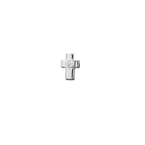 Cross Sterling Sølv Charm fra Christina Watches med Topas
