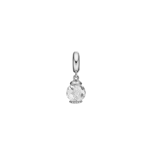 Image of   Big Moving Crystal Sterling Sølv Charm fra Christina Watches