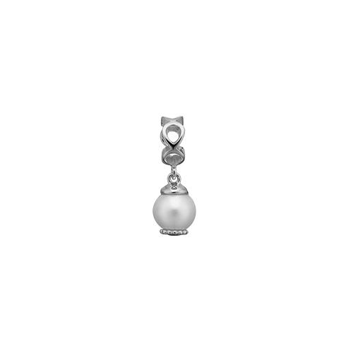 Image of   Christina Watches Moving Pearl Sterling Sølv Charm med Ferskvandsperle