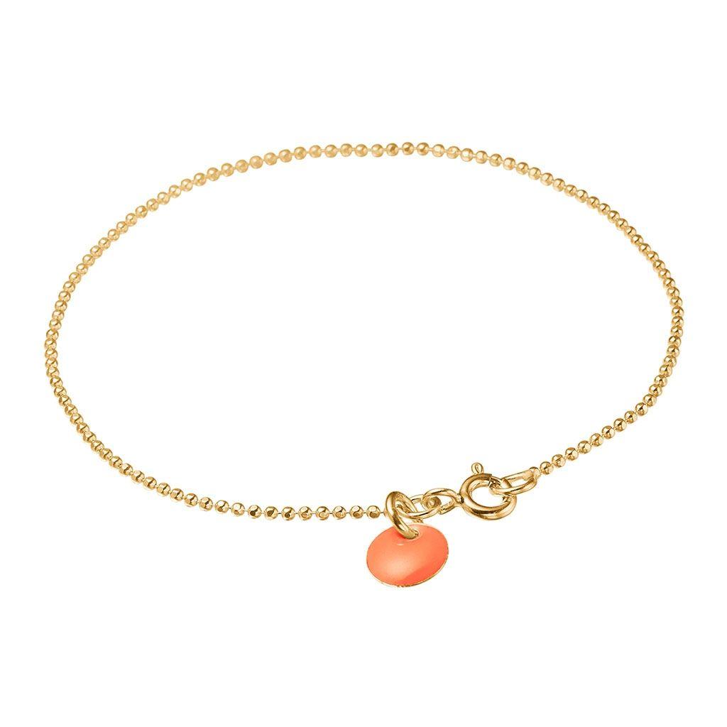 Image of   Clementine Ball Chain Forgyldt Sølv Armbånd fra Enamel