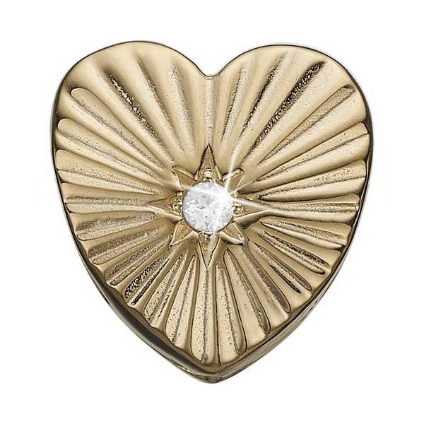 Sunshine Heart Forgyldt Sølv Charm fra Christina Watches med Topas