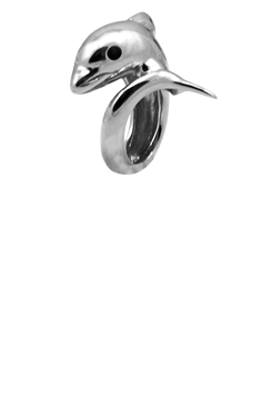 Christina Watches Dolphin Silver Sterling Sølv Charm thumbnail