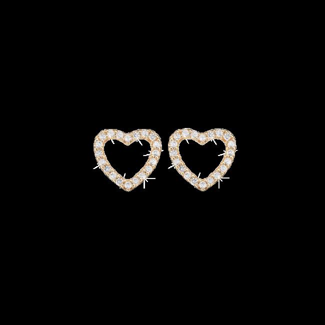 Christina Watches Sparkling Hearts Forgyldt Sølv Ørestikker