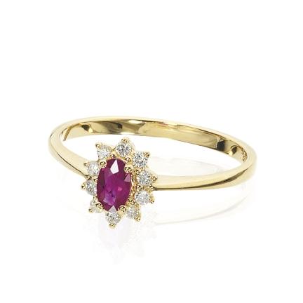 Scrouples 14 Karat Guld Ring med Rubin 701855