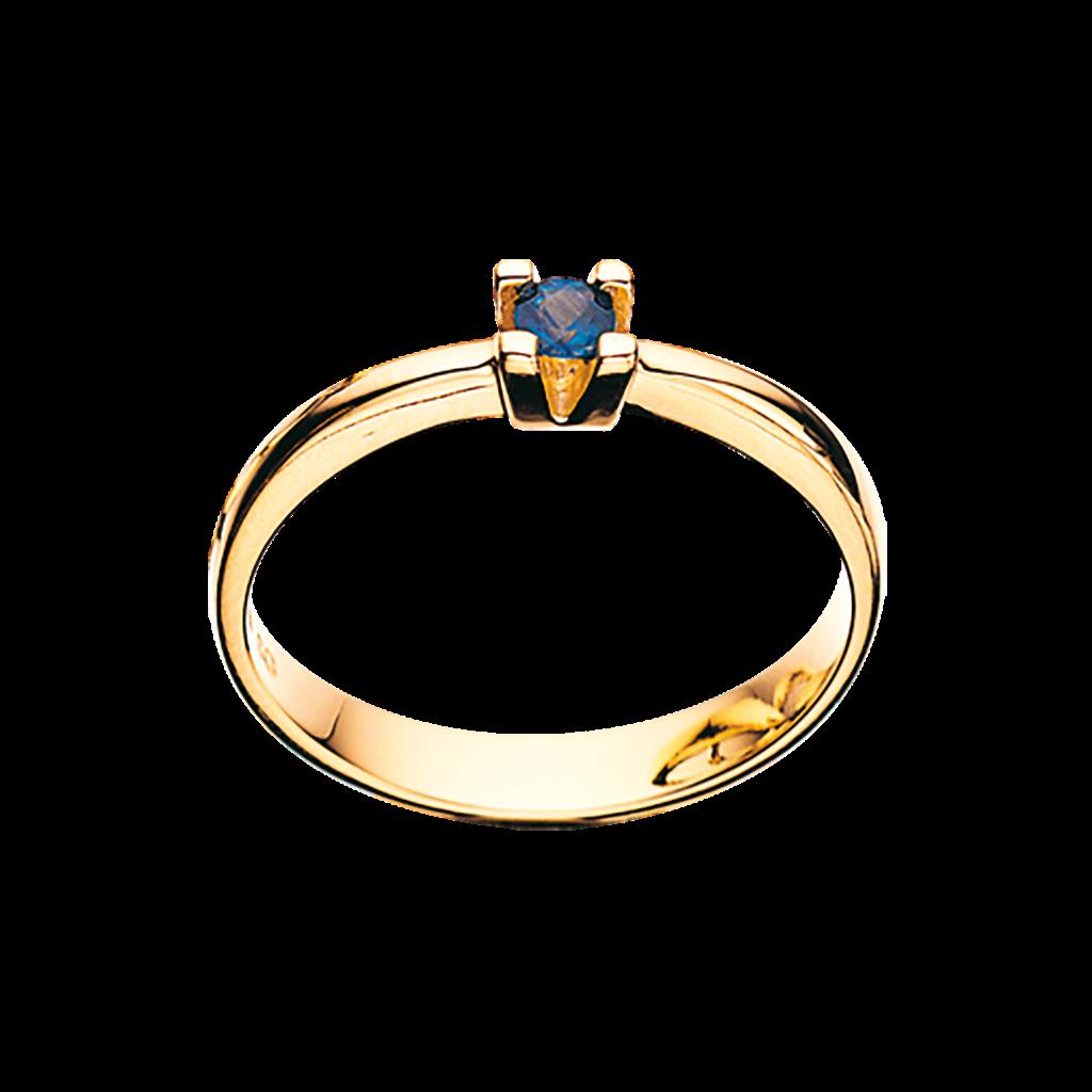 Image of   14 Karat Guld Ring fra Scrouples med Safir 703495