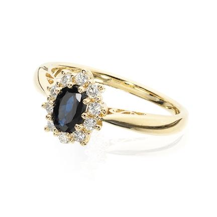 Scrouples 14 Karat Guld Ring med Safir 706695