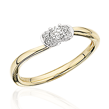 Image of   14 Karat Guld Ring fra Scrouples med Brillant 0,14 Carat W/SI