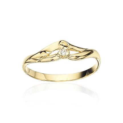 Image of   8 Karat Guld Ring fra Scrouples 707233