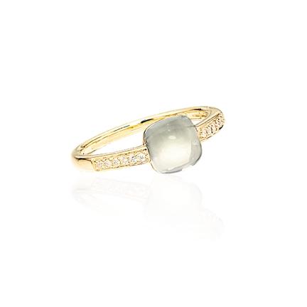 Image of   14 Karat Guld Ring fra Scrouples med Ametyst 707575