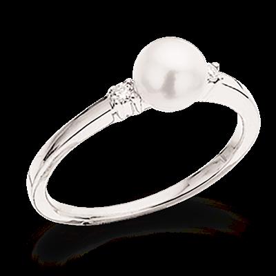 Scrouples 14 Karat Guld Ring med Brillant 0,05 Carat W/SI