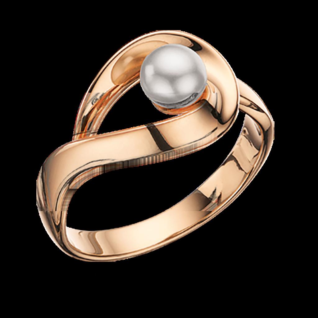 Image of   8 Karat Guld Ring fra Scrouples med Ferskvandsperle