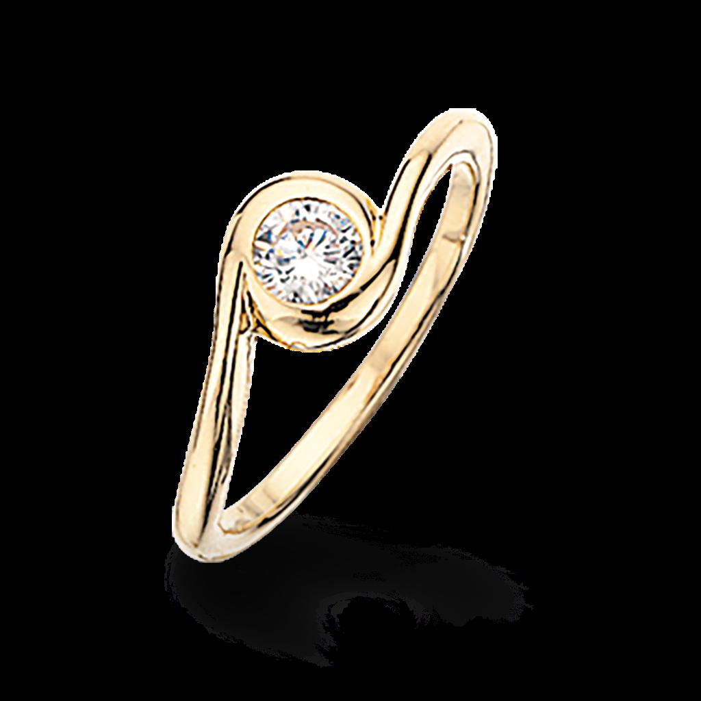 Image of   8 Karat Guld Ring fra Scrouples 709363