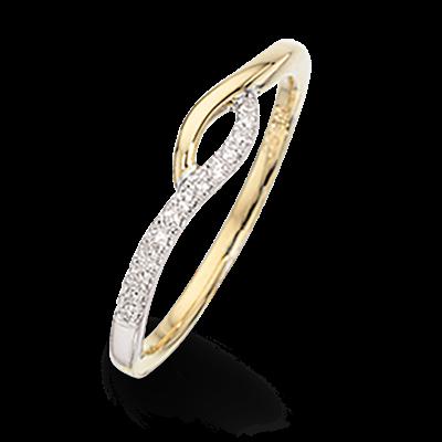 Image of   14 Karat Guld Ring fra Scrouples med Brillanter 0,07 Carat W/SI
