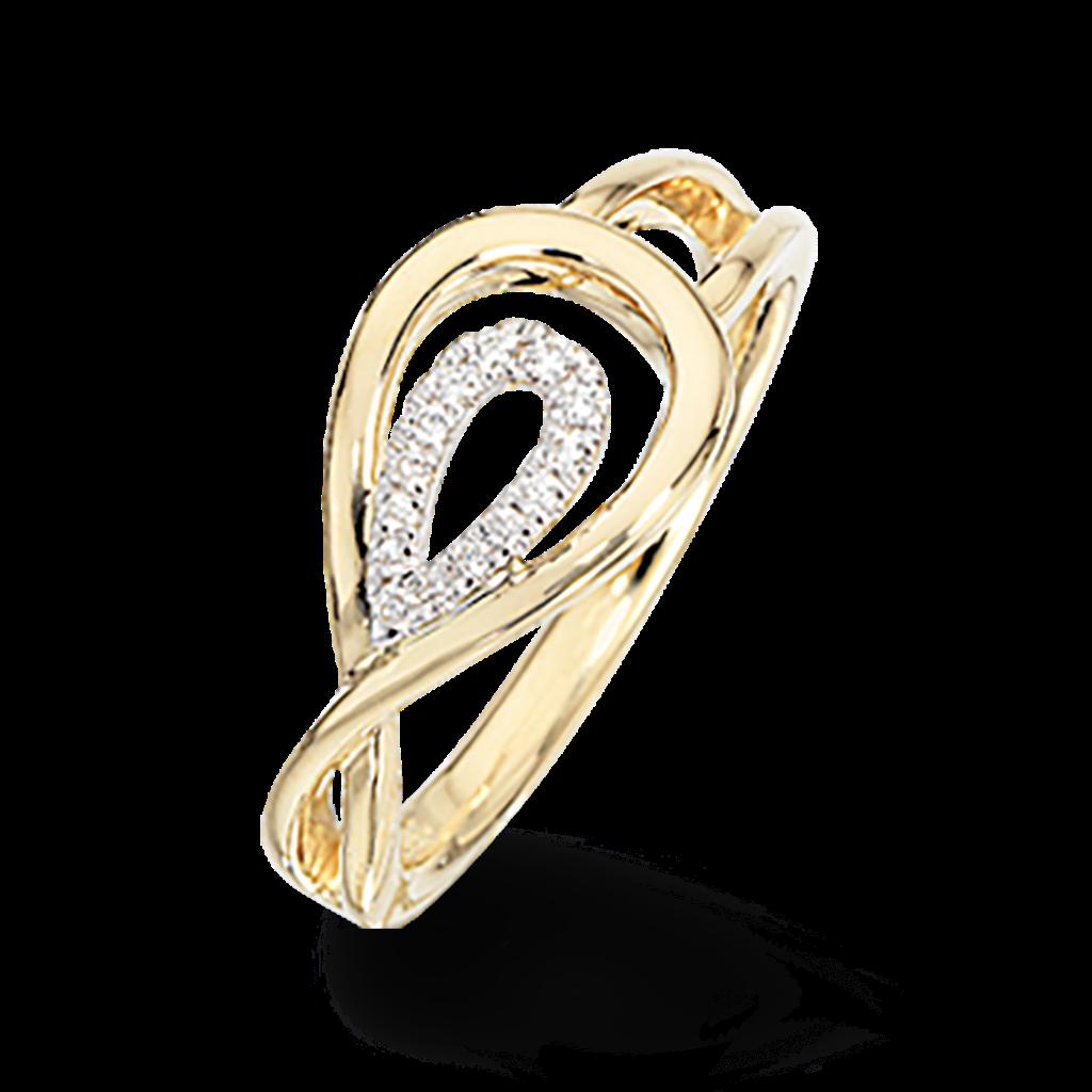 Scrouples Ring i 14 Karat Guld med Brillant 0,08 Carat W/SI