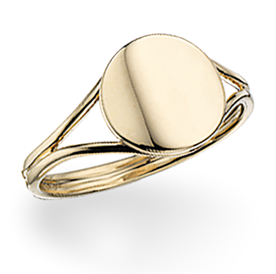 Scrouples Signet Ring i 8 Karat Guld 709923